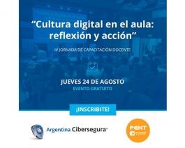 """Evento de capacitación gratuita """"Cultura digital en el aula: reflexión y acción"""""""